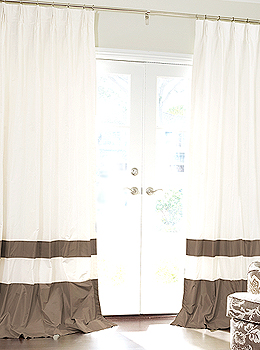 Double Bordered Custom Silk Drapes