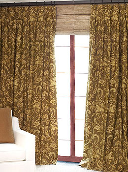 Patterned Linen Drapes
