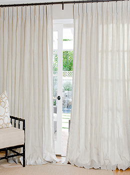 Custom Sheer Linen Drapes