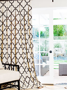 Geometric Custom Drapes