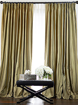 Mulberry Silk Taffeta Drapes