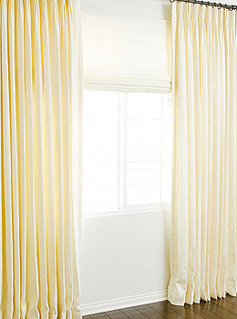 Custom Silk Roman Shades