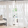 Pure Sheer Linen Drapery with French Pleat