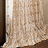 Emboidered Silk Drapery in Fleur Cr�me with French Pleat
