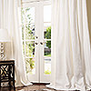 Manhattan Custom Linen Drapery in White with Matt Nickel Grommets