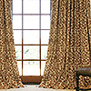 Napa Chocolate Custom Linen Drapery with Parisian Pleat