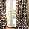 Custom Patterned Linen Drape in Venice Brown