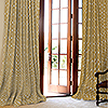 Robert Allen Custom Drapery in Belle Porte Citrine with French Pleat