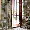 French Pleated Custom Drapery in Robert Allen Belle Porte Charcoal