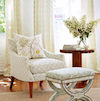 Sarah Richardson Collection: Brookhaven Drapes, Errington Pillow, Walmsley Foot Stool