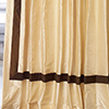 The Hotel Drape in Pearl with Espresso Banding