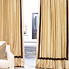 The Hotel Drape in Pearl with Sable Banding