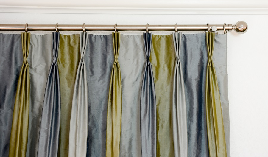 Veranda 3 Silk Stripe with French Pleat