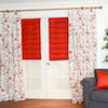 Vern Yip's Collection of Fabrics in Serenity Poppy with Pleated Roman Shade in Sonoma Poppy