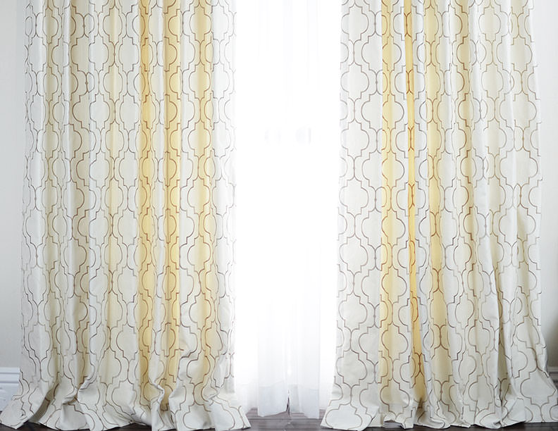 The Hyland Contemporary Cotton Drapery in Pewter with Pinch Pleat