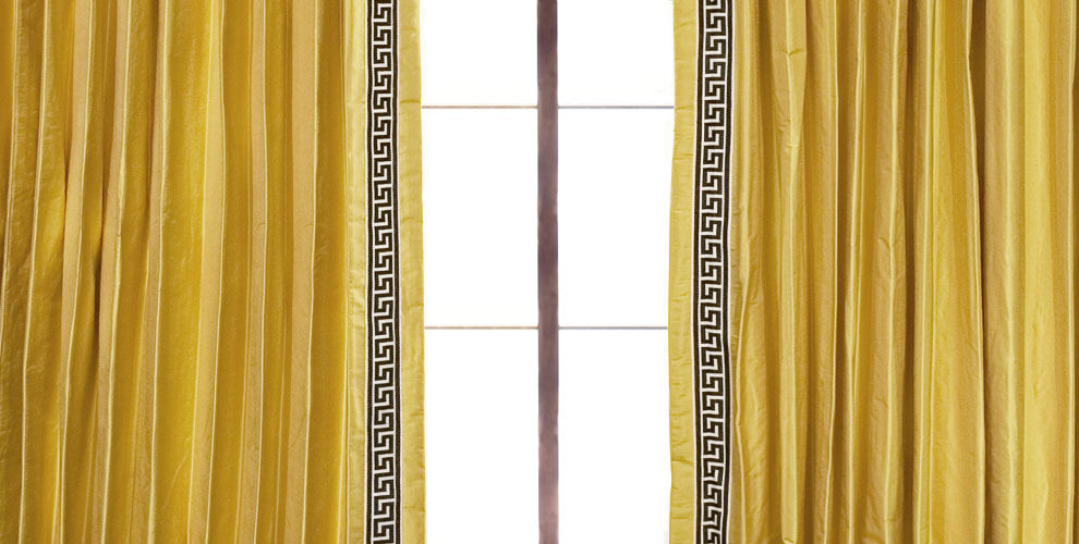 The Perfect Custom Golden Curtain by DrapeStyle