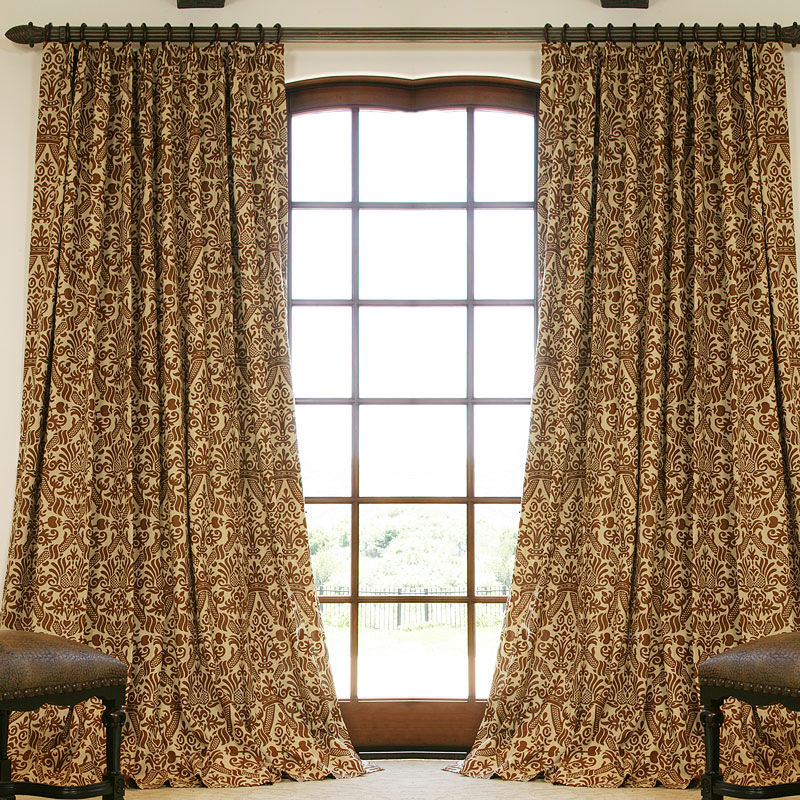 Drapes Pictures Patterned Linen Drapes Drapestyle