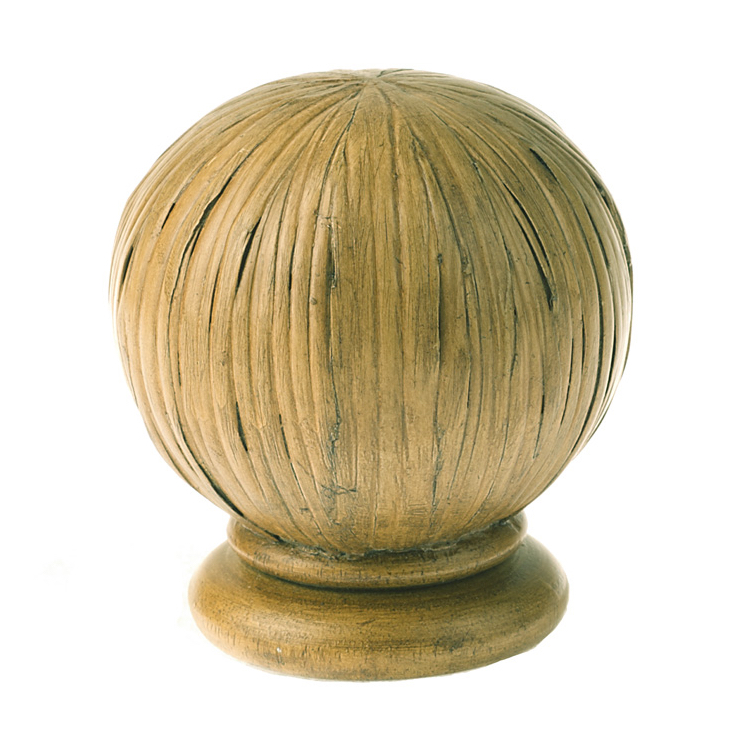 Bamboo Ball Finial in Natural
