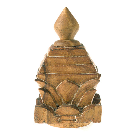 Zen Wood Pagoda Finial