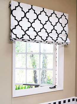 Contemporary Cotton Roman Shades