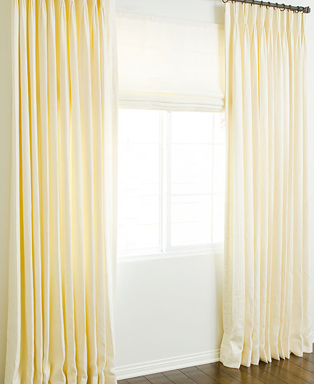 Solid Linen Custom Roman Shades