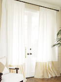 Bordered Linen + Silk Drapes