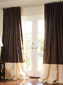Bordered Linen + Linen Drapes
