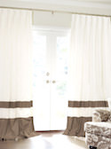 Double Bordered Silk Drapes