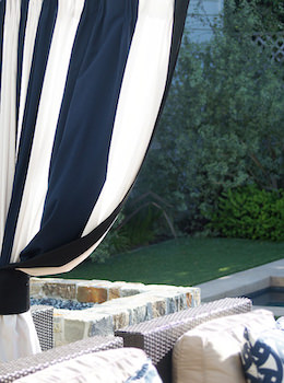 Patterned Sunbrella Outdoor Drapes