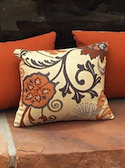 Patterned Sunbrella Outdoor Pillows