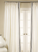 Ribbon Trimmed Linen Drapes