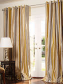 Striped Silk Dupioni Drapes