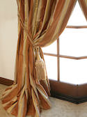 Striped Silk Taffeta Drapes