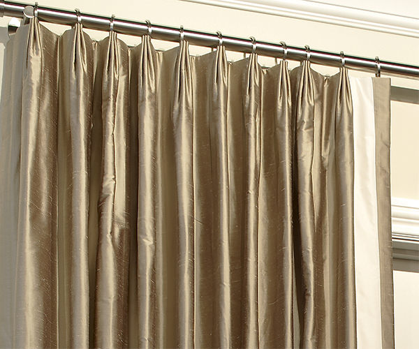 Drapery pleat styles for Different styles of drapes