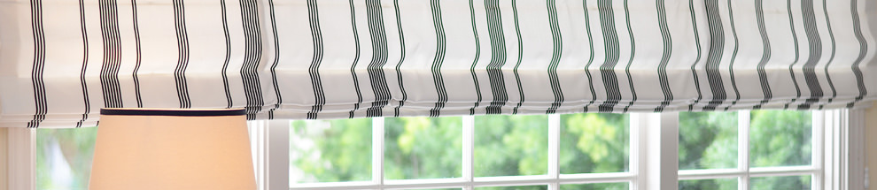 Custom Roman Shades by DrapeStyle