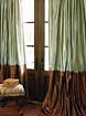 Bordered Silk Drapes