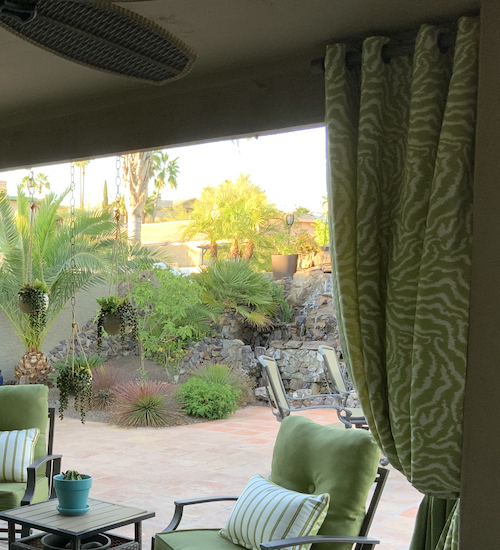 Custom Outdoor Drapes in Designer Fabrics
