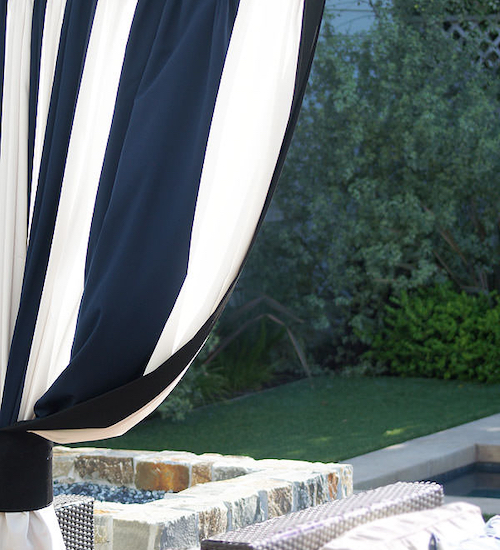 DrapeStyle Patterned Sunbrella Outdoor Drapes