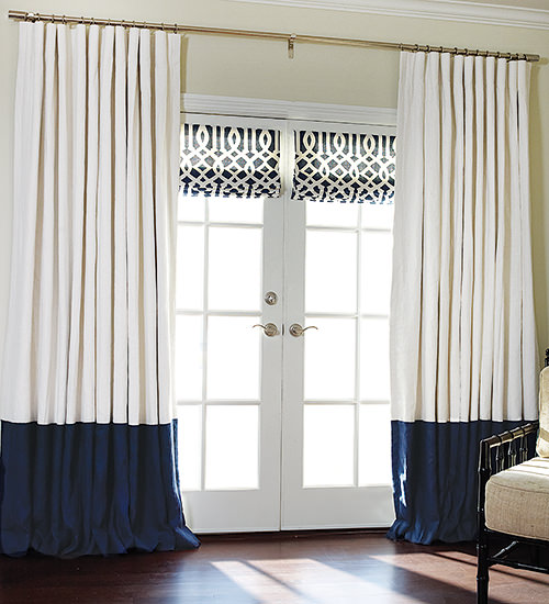 custom drapes and roman shades
