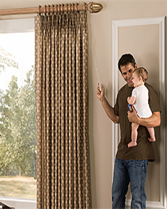 Easy Pull Drapery Hardware with Child Safe® by Paris Texas Hardware