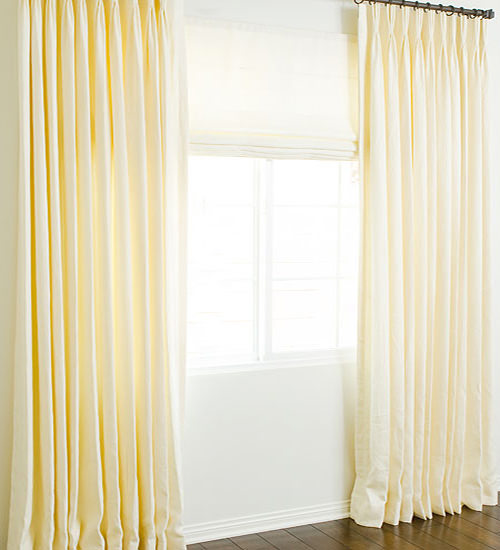 Hand Made Solid Linen Custom Roman Shades And Roman Blinds