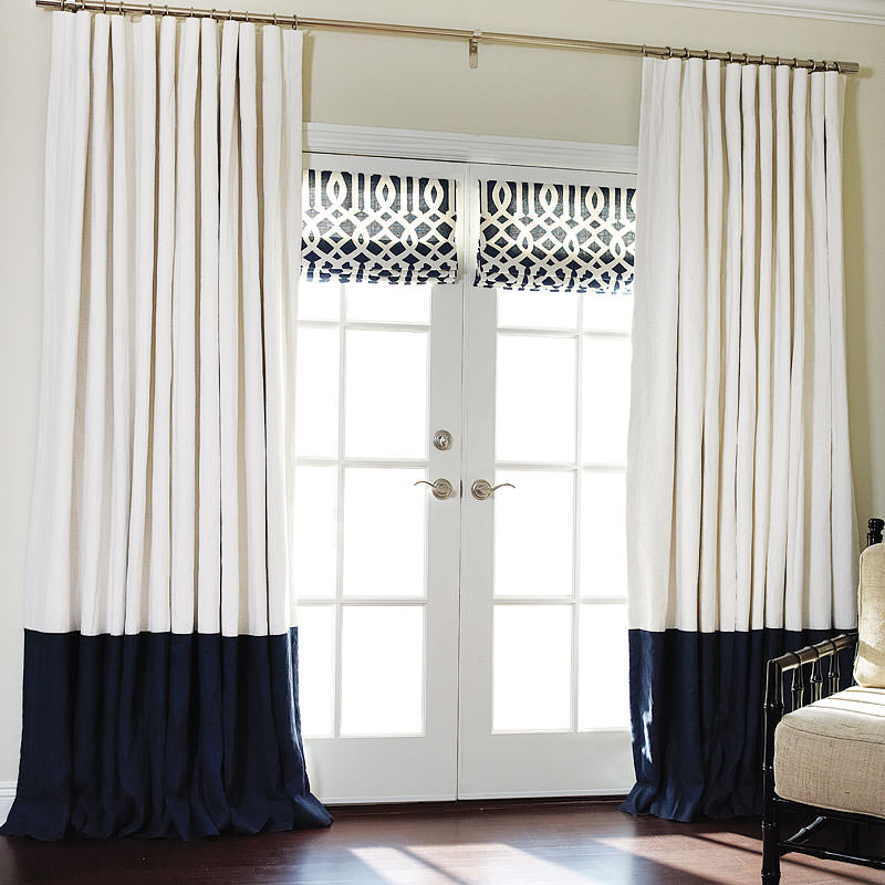 Contemporary cotton roman shades for Roman shades and curtains